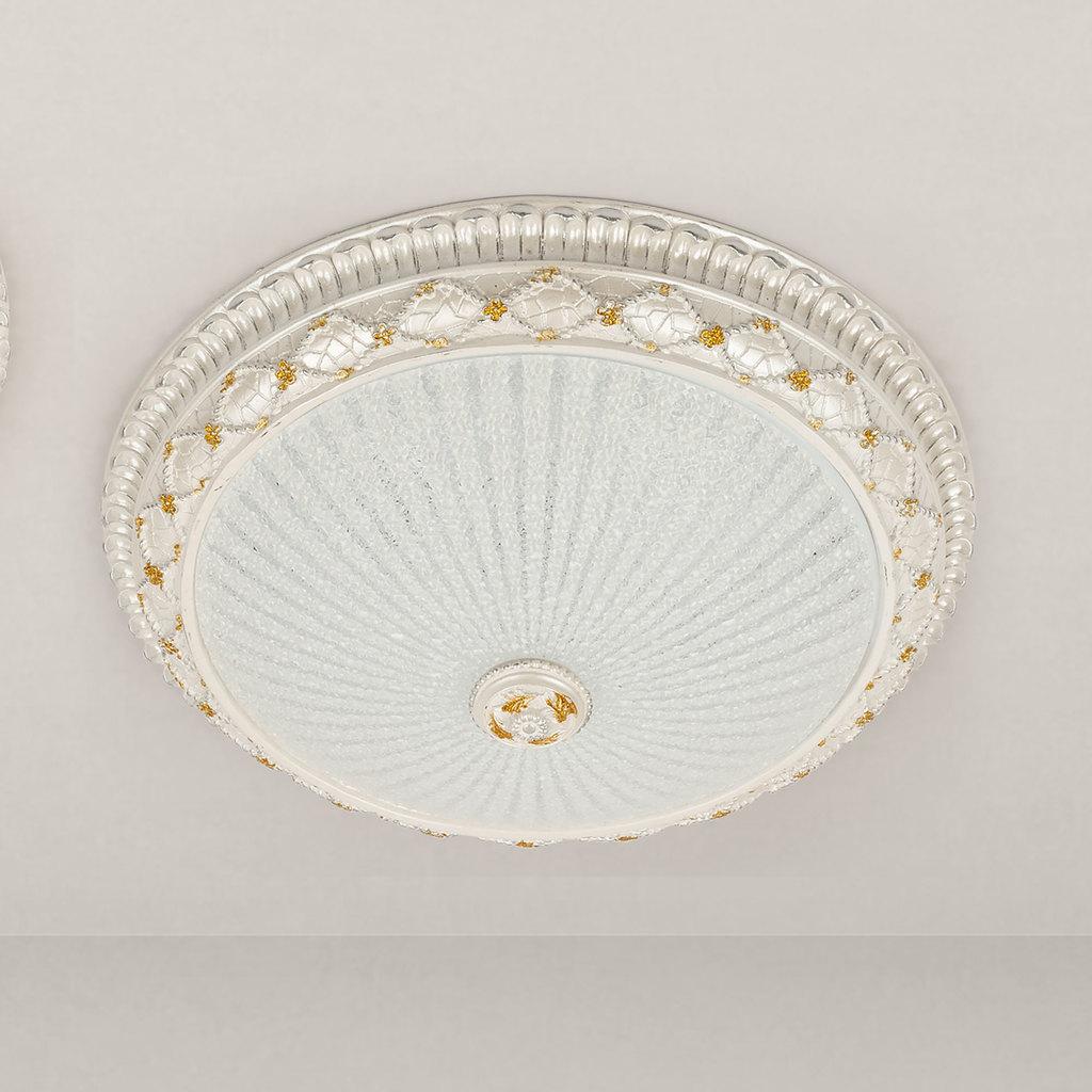 Потолочный светодиодный светильник Citilux Тренди CL425401, LED 18W 3000K 1350lm, белый, гипс, стекло - фото 1