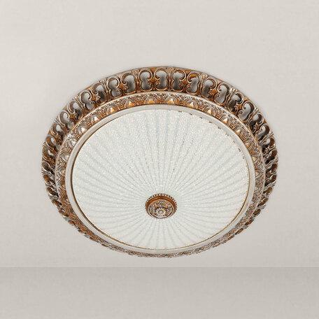 Потолочный светодиодный светильник Citilux Тренди CL425403, LED 18W 3000K 1350lm, коричневый, белый, гипс, стекло