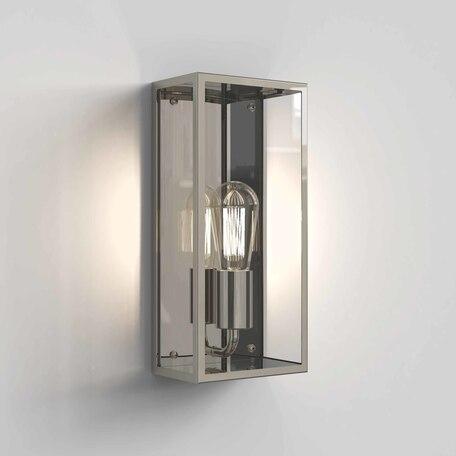 Настенный светильник Astro Messina 1183022, IP44, 1xE27x12W, хром, прозрачный, стекло