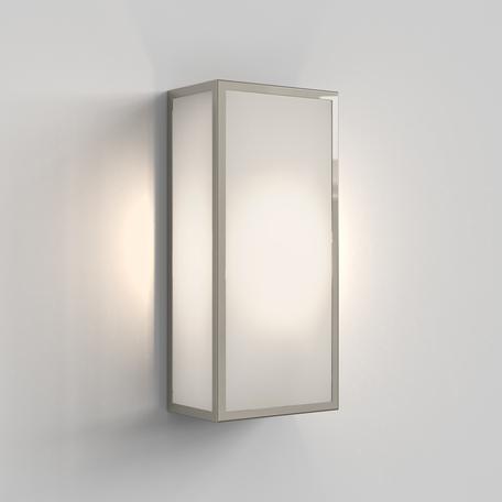 Настенный светильник Astro Messina 1183025, IP44, 1xE27x12W, хром, стекло