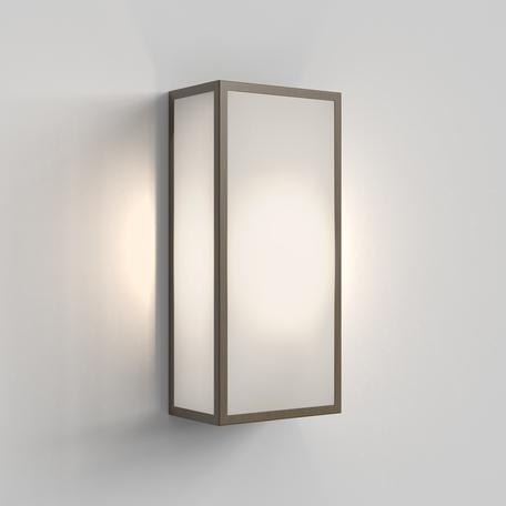 Настенный светильник Astro Messina 1183026, IP44, 1xE27x12W, бронза, стекло