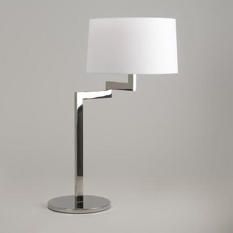 Настольная лампа Astro Momo 1162009, 1xE27x60W, хром, белый, металл, текстиль