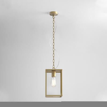 Подвесной светильник Astro Homefield Coastal 1095035, IP44, 1xE27x12W, матовое золото, прозрачный, металл, металл со стеклом
