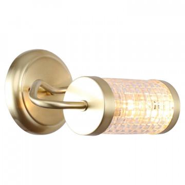 Бра Lussole LGO Arlington LSP-8102, IP21, 1xE14x40W, матовое золото, прозрачный, металл, стекло
