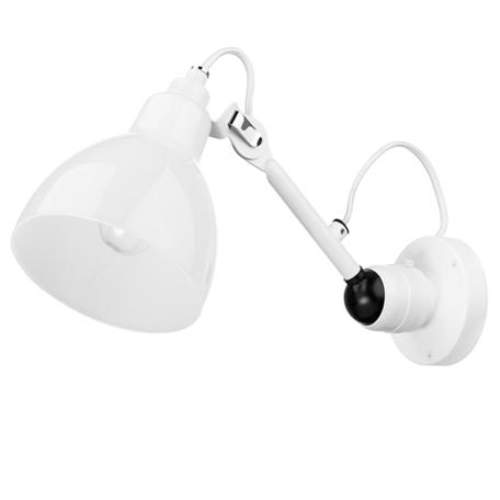 Бра с регулировкой направления света Lightstar Loft 865606, 1xE14x40W, белый, металл, стекло