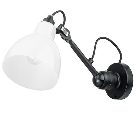 Бра с регулировкой направления света Lightstar Loft 865607, 1xE14x40W, черный, белый, металл, стекло