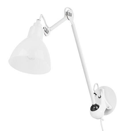 Бра с регулировкой направления света Lightstar Loft 865616, 1xE14x40W, белый, металл, стекло