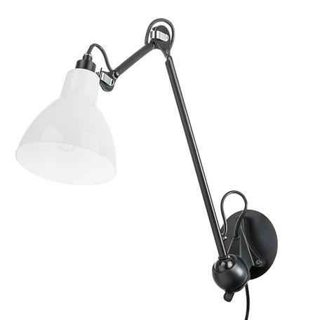 Бра с регулировкой направления света Lightstar Loft 865617, 1xE14x40W, черный, белый, металл, стекло