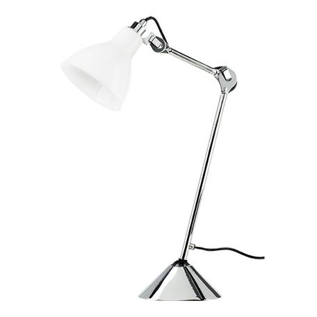 Настольная лампа Lightstar Loft 865914, 1xE14x40W, хром, белый, металл, стекло
