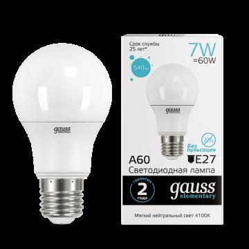 Светодиодная лампа Gauss Elementary 23227A, белый