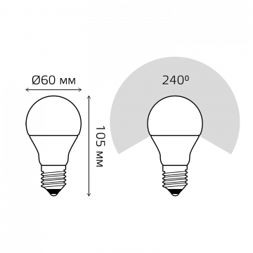 Схема с размерами Gauss Elementary 23227A