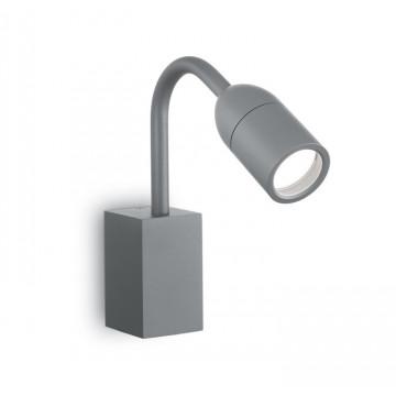 Настенный светильник Ideal Lux LOOP AP1 ANTRACITE 179155, IP44, 1xGU10x15W, серый, металл, стекло