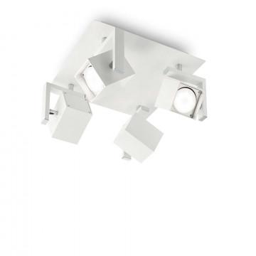 Потолочная люстра с регулировкой направления света Ideal Lux MOUSE PL4 BIANCO 073583, 4xGU10x50W, белый, металл