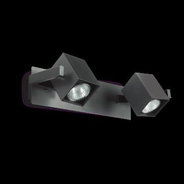 Потолочный светильник с регулировкой направления света Ideal Lux MOUSE AP2 NERO 156705, 2xGU10x50W, черный, металл