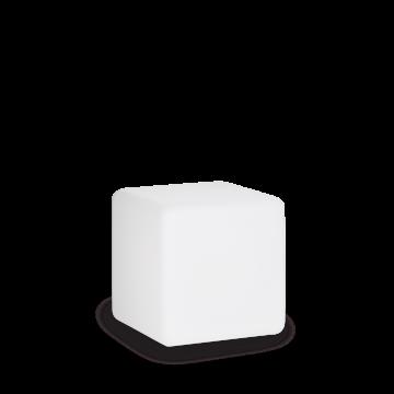 Садовый светильник Ideal Lux LUNA PT1 D30 191577, IP44, 1xE27x60W, белый, металл, пластик