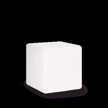 Садовый светильник Ideal Lux LUNA PT1 D40 191584, IP44, 1xE27x60W, белый, пластик