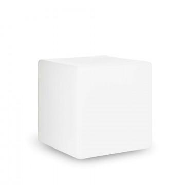 Садовый светильник Ideal Lux LUNA PT1 D50 191607, IP44, 1xE27x60W, белый, металл, пластик