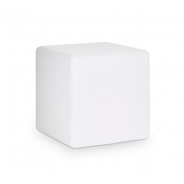 Садовый светильник Ideal Lux LUNA PT1 D40 191584, IP44, 1xE27x60W, белый, металл, пластик