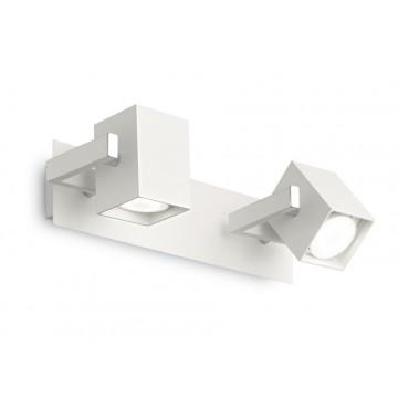 Потолочный светильник с регулировкой направления света Ideal Lux MOUSE AP2 BIANCO 073545, 2xGU10x50W, белый, металл
