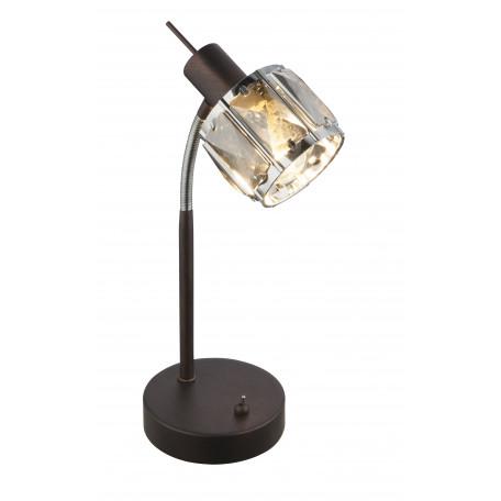 Настольная лампа Globo Indiana 54357-1T, 1xE14x40W, металл, стекло