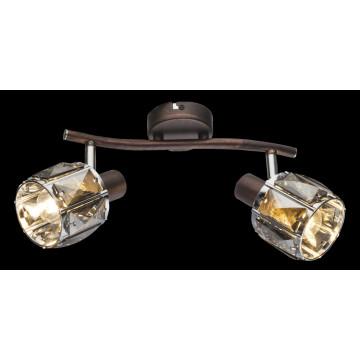 Потолочный светильник с регулировкой направления света Globo Indiana 54357-2, 2xE14x40W, металл, стекло