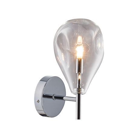 Бра Zumaline Bastoni MB1921-1-CLEAR, 1xG9x40W, хром, дымчатый, металл, стекло