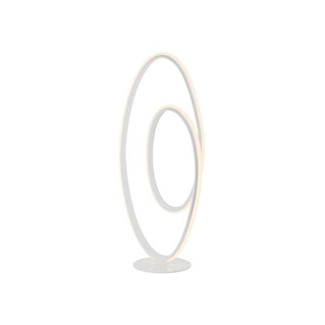 Настольная светодиодная лампа Zumaline Seda MT57054-1A, LED 20W 3000K 960lm, белый, металл, металл с пластиком