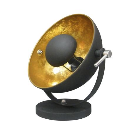 Настольная лампа Zumaline Antenne TS-130801T-BKGO, 1xE27x60W, черный, металл