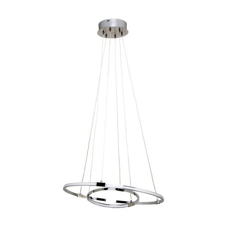Подвесной светодиодный светильник Zumaline Ontar L180619-2, LED 30W 3000K 1470lm, хром, металл, металл с пластиком