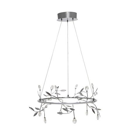 Подвесной светодиодный светильник Zumaline Belle PL170513-2, LED 35W 3000K 1530lm, хром, металл, металл со стеклом