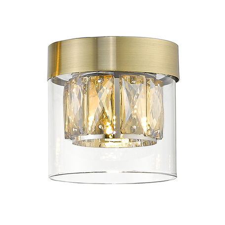 Потолочный светильник Zumaline Gem C0389-01A-0FD2, 1xG9x28W, хром, прозрачный, металл, стекло