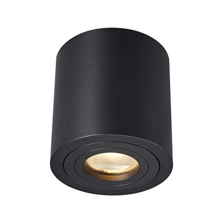 Потолочный светильник Zumaline Rondip ACGU10-159, IP54, 1xGU10x50W, черный, металл