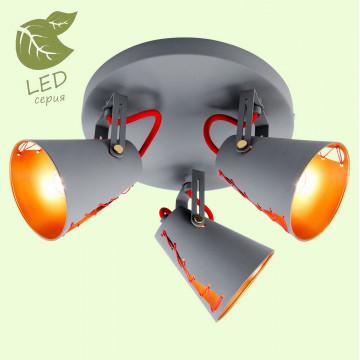 Потолочная люстра с регулировкой направления света Lussole Loft Bethel GRLSP-8021