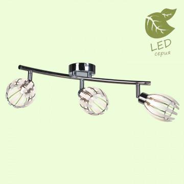 Потолочный светильник Lussole LGO Nelson GRLSP-0100, IP21, 3xG9x5W, хром, белый, металл, пластик