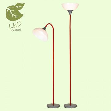 Торшер Lussole LGO Flagstaff GRLSP-0507, IP21, 1xE27x10W, красный, белый, металл, пластик