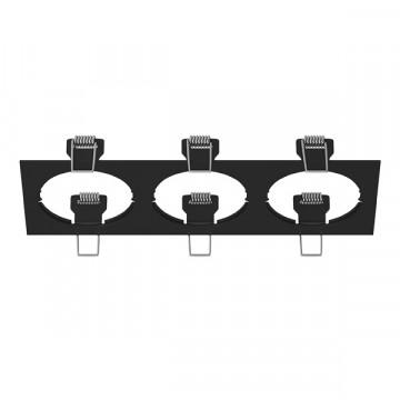 Декоративная рамка Lightstar Intero 16 217537, черный, металл