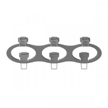 Декоративная рамка Lightstar Intero 16 217639, серый, металл