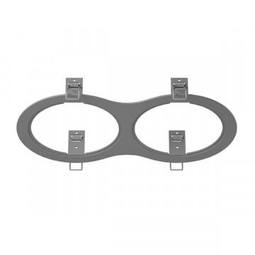 Декоративная рамка Lightstar Intero 111 217929, серый, металл