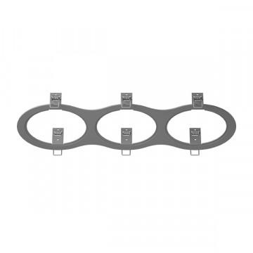 Декоративная рамка Lightstar Intero 111 217939, серый, металл