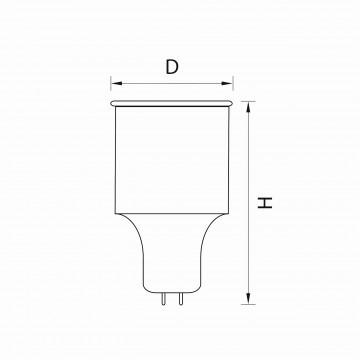 Схема с размерами Lightstar 940244R