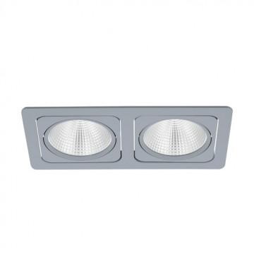 Встраиваемый светодиодный светильник Eglo Vascello G 61673, LED 38W, серебро, металл
