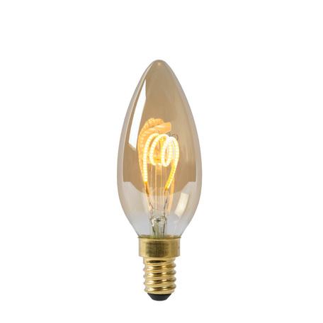 Филаментная светодиодная лампа Lucide 49043/03/62 свеча E14 3W, 2200K (теплый) 220V, диммируемая, гарантия 30 дней