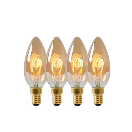 Филаментная светодиодная лампа Lucide 49043/14/62 свеча E14 3W, 2200K (теплый) 220V, диммируемая, гарантия 30 дней
