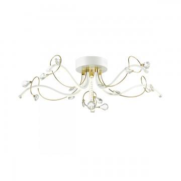 Потолочная светодиодная люстра Lumion Alissa 3710/36CL, LED 36W 4000K (дневной), белый, золото, прозрачный, металл, пластик, хрусталь