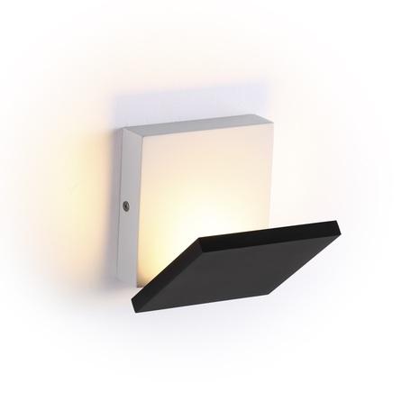 Настенный светодиодный светильник с регулировкой направления света Odeon Light Squadro 3859/10WB, LED 10W, 3000K (теплый), белый, черный, металл, пластик