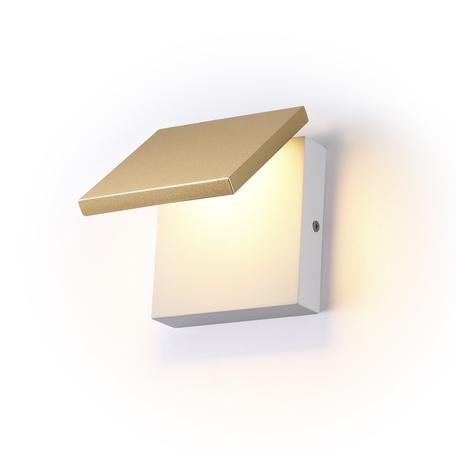 Настенный светодиодный светильник с регулировкой направления света Odeon Light L-Vision Squadro 3859/10WG, LED 10W 3000K 580lm, белый, золото, металл