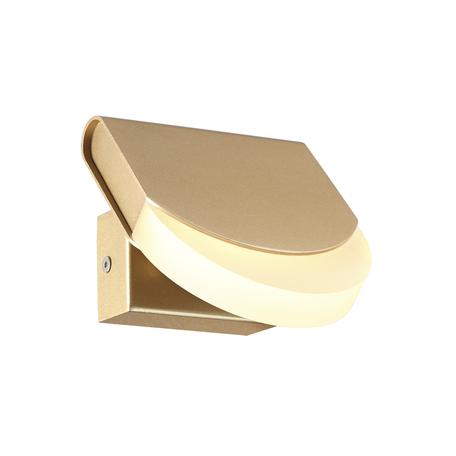 Настенный светодиодный светильник с регулировкой направления света Odeon Light Rebel 3861/6WG 3000K (теплый), золото, металл, пластик