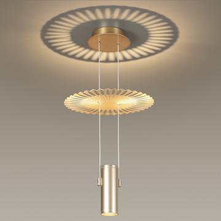 Подвесной светильник Odeon Light Modern Astra 3856/2L, 2xGU10x50W, золото, металл