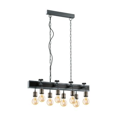 Подвесной светильник Eglo Trend & Vintage Coldcliff 49099, 8xE27x60W, бронза, серебро, металл