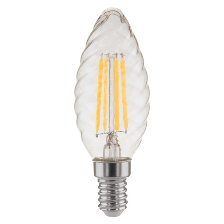 Филаментная светодиодная лампа Elektrostandard Свеча витая F 7W 3300K E14 прозрачный (BL128) E14 7W (дневной)
